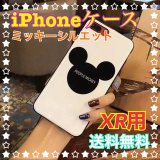 Disney - 送料無料☆ミッキーシルエット/iPhoneケース/カバー/XR/ディズニー