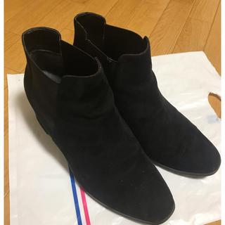 RANDA - 【ブーツ】RANDA 黒 ヒール4.5cm スウェード