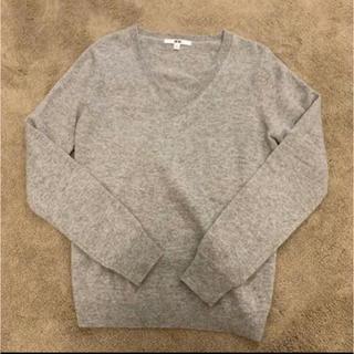 UNIQLO - ユニクロ カシミヤ 100% グレー セーター