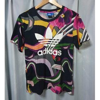 adidas - adidas ボタニカル柄 Tシャツ
