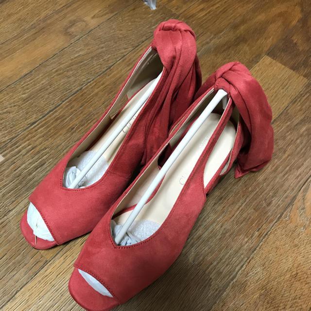 CECIL McBEE(セシルマクビー)の【新品タグ付き】CECILMcBEEサンダル♡秋冬オレンジ系 レディースの靴/シューズ(サンダル)の商品写真