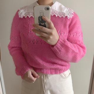 Lochie - pink knit