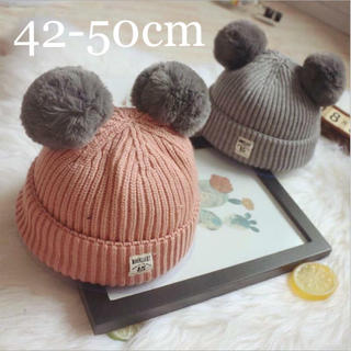 petit main - 【新品】ぽんぽん付きニット帽