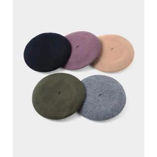 メゾンドリーファー(Maison de Reefur)の《新品未使用》MAISON DE REEFUR フラノ ベレー ネイビー(ハンチング/ベレー帽)