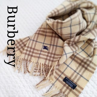 BURBERRY - Burberry メンズ マフラー ウール100% チェック アイボリー 白