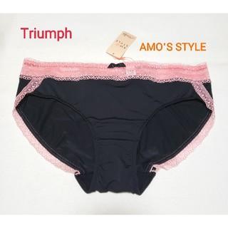 Triumph - Triumph アモスタイル 配色レースレギュラーショーツ黒×ピンク L