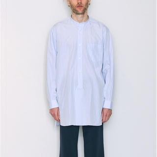 COMOLI - 18aw comoli サイズ2 バンドカラーシャツ サックス