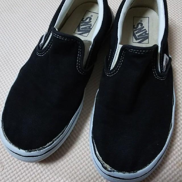 VANS(ヴァンズ)のVANS  中古×黒 21㎝位 キッズ/ベビー/マタニティのキッズ靴/シューズ(15cm~)(スニーカー)の商品写真