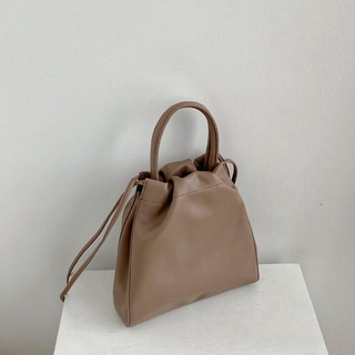 TODAYFUL - Handle leather drawstring bag