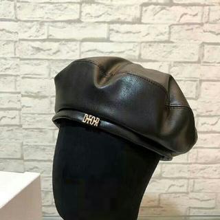 Dior - dior☆レザー キャスケット 帽子 マトラッセ