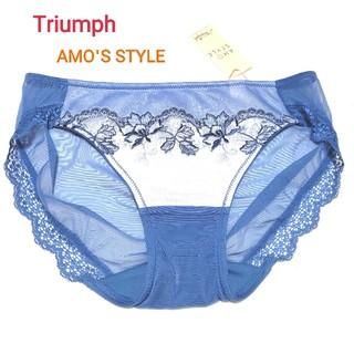 AMO'S STYLE - Triumph アモスタイル ヘナタトゥレギュラーショーツ ブルー M