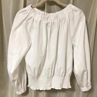 chocol raffine robe - ギャザー ブラウス ★ ホワイト