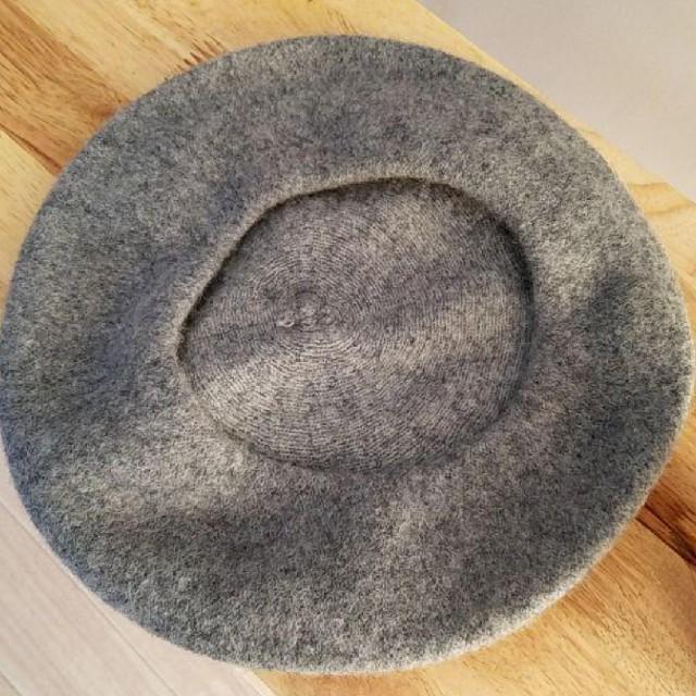 * シンプル ベレー帽 * グレー レディースの帽子(ハンチング/ベレー帽)の商品写真
