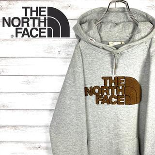 THE NORTH FACE - 【レア】ザノースフェイス☆ビッグロゴ入りパーカー パイル地ワッペン ゆるダボ