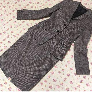 アンタイトル(UNTITLED)のアンタイトル スカートスーツ 3 W78 茶系 OL リクルート(スーツ)