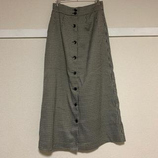 オペーク(OPAQUE)のチェックロングタイトスカート(ロングスカート)