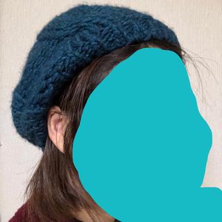 ジャーナルスタンダード(JOURNAL STANDARD)のジャーナル購入 ニットベレー帽 ターコイズ ブルー(ハンチング/ベレー帽)