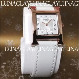 Hermes - 新品 エルメス 腕時計 Hウオッチ 白 ホワイト