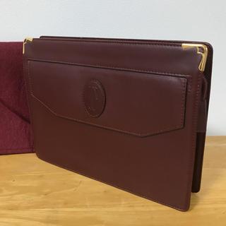 カルティエ(Cartier)のカルティエ  クラッチバック ケース付き ハンドバッグ(クラッチバッグ)
