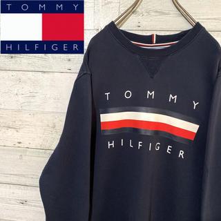 TOMMY HILFIGER - 【レア】トミーヒルフィガー☆ビッグロゴ 裏毛 スウェット トレーナー