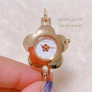 MARY QUANT - 【MARY QUANT】ゴールドバングル腕時計 美品 稼働品
