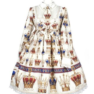 Angelic Pretty - AngelicPretty British Crownワンピース アイボリー