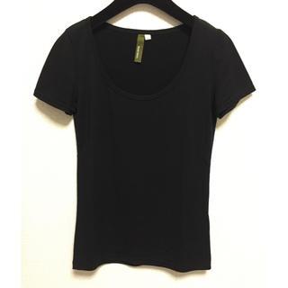 ザラ(ZARA)の半袖■トップス カットソー Tシャツ インナー■黒(Tシャツ(半袖/袖なし))