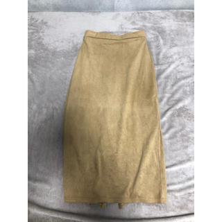 GU - GU ベージュタイトスカート