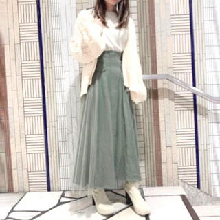 COCO DEAL - COCO DEAL ハイウエスト異素材レイヤードプリーツスカート