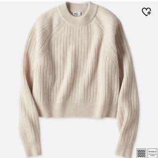 UNIQLO - 【UNIQLO】チャンキーリブモックネックセーター Mサイズ