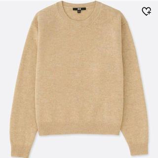 UNIQLO - 【UNIQLO】プレミアムラムクルーネックセーター Mサイズ