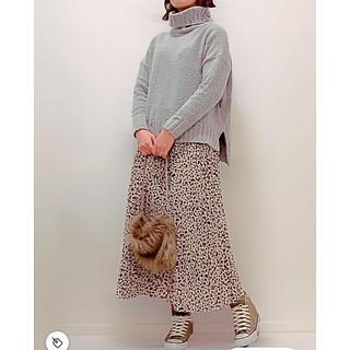 ロキエ(Lochie)の【美品】レオパード柄 プリーツロングスカート(ロングスカート)