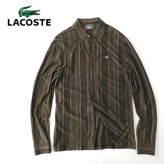 ラコステ(LACOSTE)のラコステ シルバーラコ◎ストレッチコットン ストライプシャツ(シャツ)
