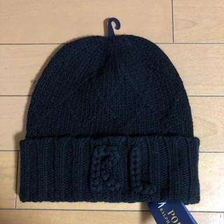 POLO RALPH LAUREN - 新品タグ付き ラルフローレン ニット帽 黒