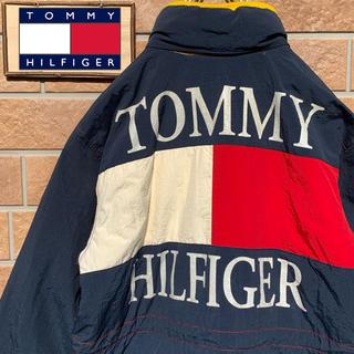 トミーヒルフィガー(TOMMY HILFIGER)の【超激レア!!】90s トミーヒルフィガー ダウンジャケット フラッグ  刺繍(ダウンジャケット)