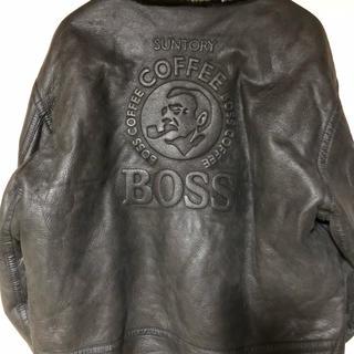 BOSS - サントリーボスジャン2000年限定モデル☘️レザーフライトジャケットB-3