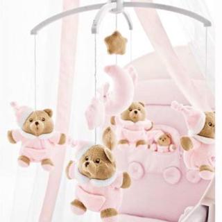ファミリア(familiar)の新品 ナナン nanan ベッドメリー ピンク(オルゴールメリー/モービル)