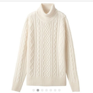 MUJI (無印良品) - 首のチクチクを押さえたタートルネックセーター