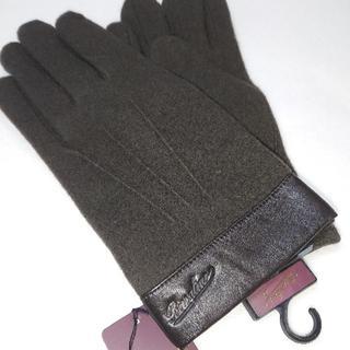 Borsalino - 新品 ボルサリーノ Borsalino 手袋 ブラウン ウール カシミヤ 羊革