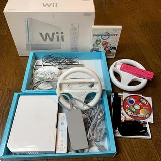 Wii - Wiiで届いて5分で2人でマリオカートセット スーパーマリオも2人で。