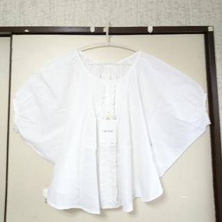 ヘザー(heather)の新品◆白レースAラインブラウス F  トレンド袖🌼白シャツ(シャツ/ブラウス(長袖/七分))