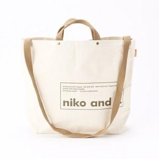 niko and... - ニコアンド ロゴトート ホワイト