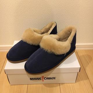 ミネトンカ(Minnetonka)のミネトンカ☆ショートスウェード シープスキンブーツ サイズ7(ブーツ)