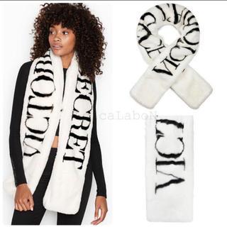 Victoria's Secret - 【新品】VS ロゴ ファー スカーフ