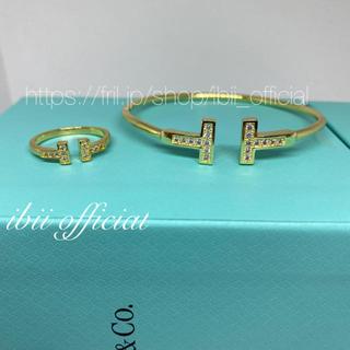 Tiffany & Co. - ✨至高✨ティファニー好き✨Tワイヤー✨リング&ブレスレット✨ゴールド✨