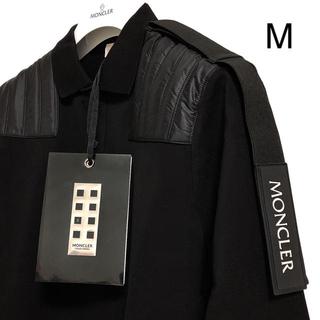 モンクレール(MONCLER)の新品 モンクレール ジーニアス ロングスリーブ ポロシャツ ロゴ M ブラック(シャツ)