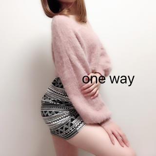 ワンウェイ(one*way)のエスニック柄 タイトミニスカート(ミニスカート)