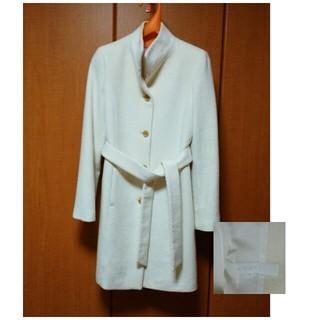 アナイ(ANAYI)の価格交渉可。アナイ スタンドカラー アンゴラ混ホワイトコート(ロングコート)