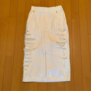 マメ(mame)のMame クラッシュデニムスカート (ひざ丈スカート)