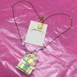 アンジェリックプリティー(Angelic Pretty)のprince duck製マカロン屋根のお菓子の家ネックレス/ロリータ/デザフェス(ネックレス)
